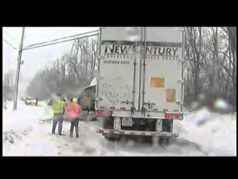 Tractor trailer accident in Claverack