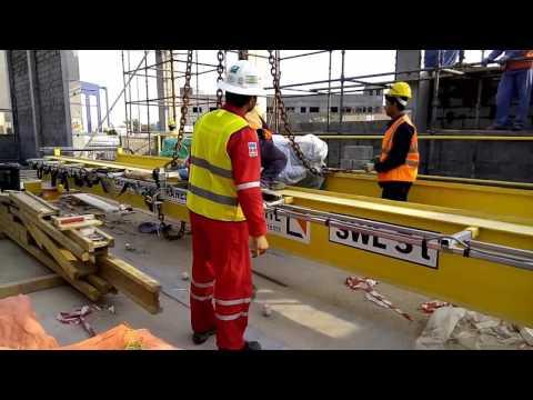 EOT crane erection