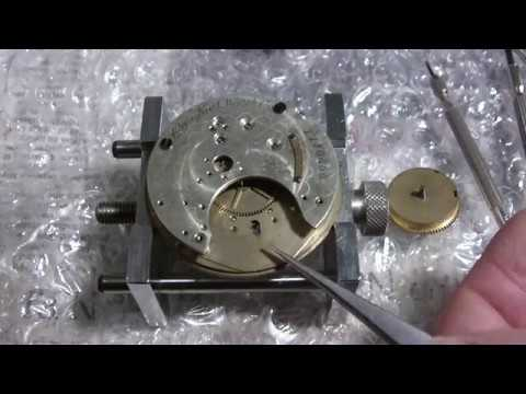 Unboxing non running pocket watch and making it run, Elgin