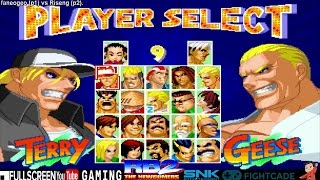 Fightcade - faneogeo vs. Riseng - Real Bout Fatal Fury 2 Online Casuals -餓狼傳說2 THE NEWCOMERS