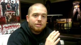 Jamey Jasta, 11-27-2012 Interview Greeting @NUCLEAR BLAST Donzdorf