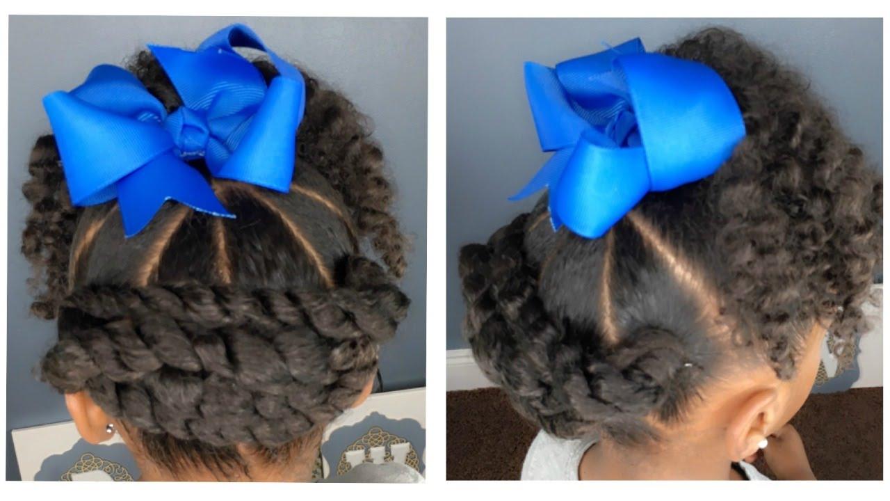 Umbrella Twist Tutorial Kids Natural Hairstyle Iamawog