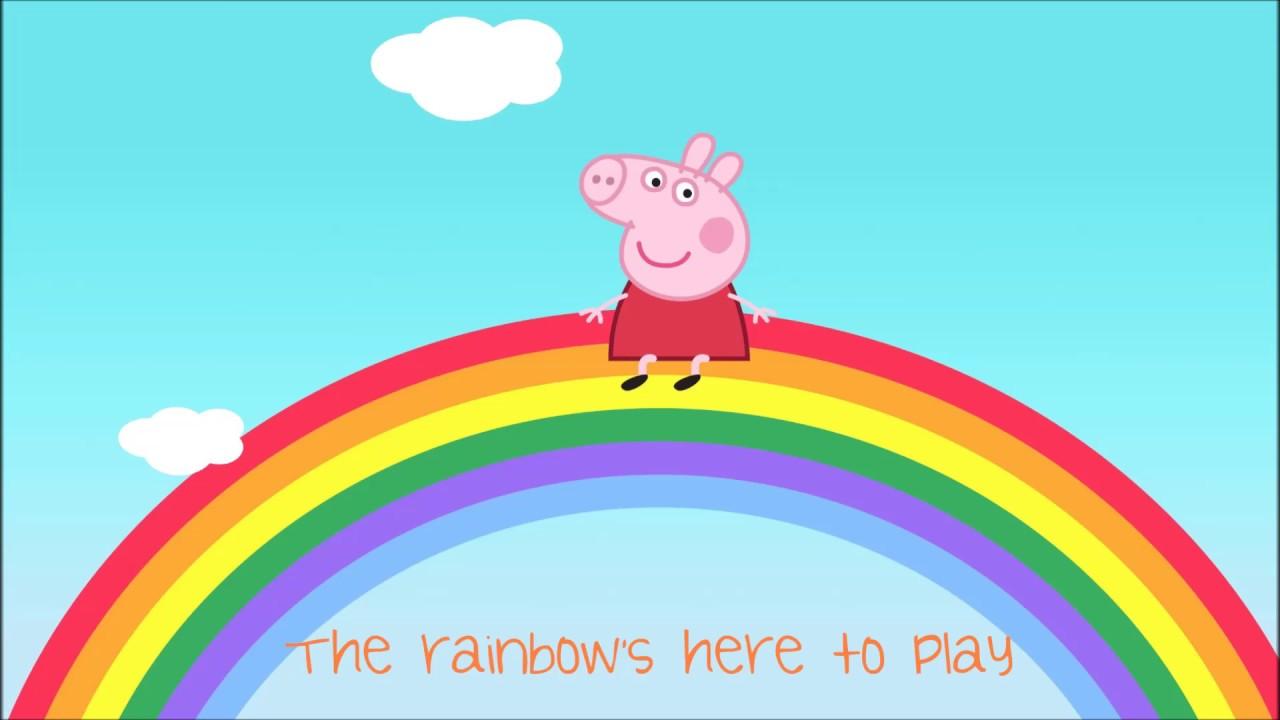 Peppa Pig Songs Peppa Pig Rainbow Song With Lyrics