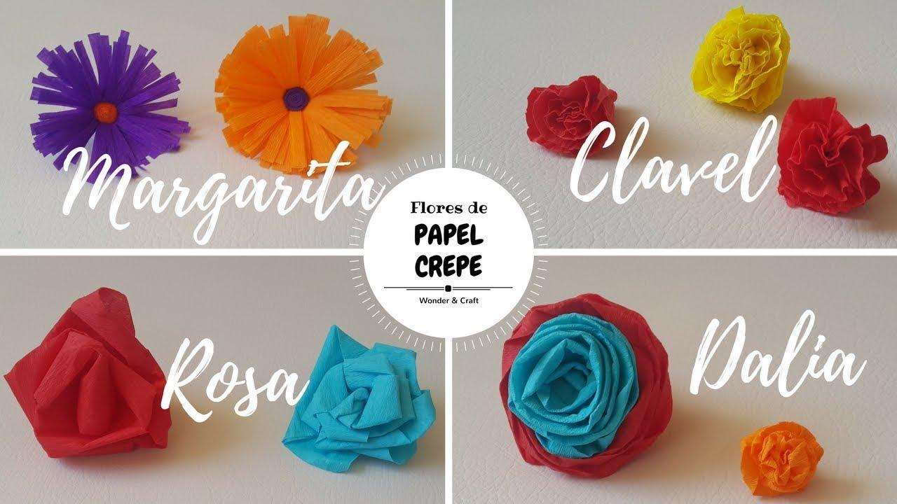 Como hacer flores de papel crepe clavel margarita - Videos de como hacer crepes ...