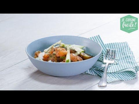 recette-facile-de-salade-de-pomme-de-terre-au-saumon-mariné-aux-échalotes