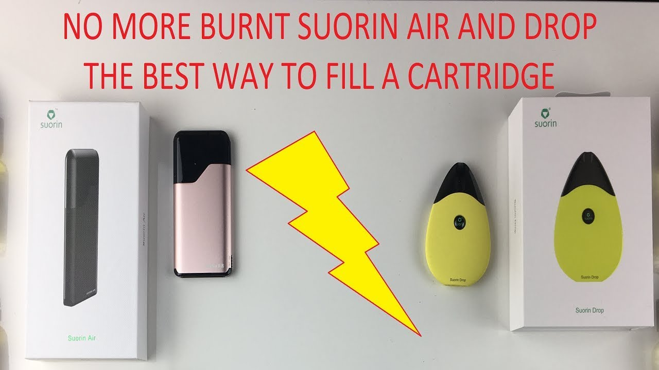 How to fill your Suorin Air and Suorin Drop - No More Burnt Cartridges!
