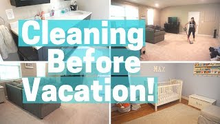 SUMMER CLEAN WITH ME before VACATION!! SPEED CLEAN MY WHOLE HOUSE!!!