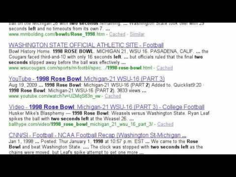 1998 Rose Bowl StorySearch
