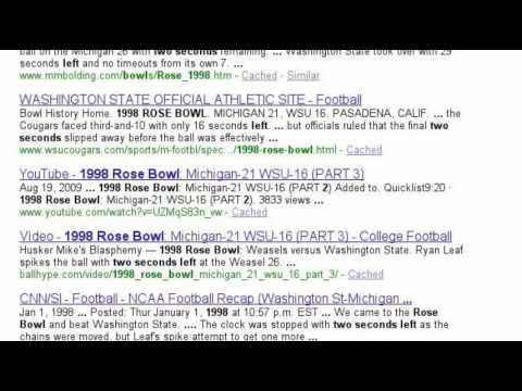 1998 Rose Bowl StorySearch