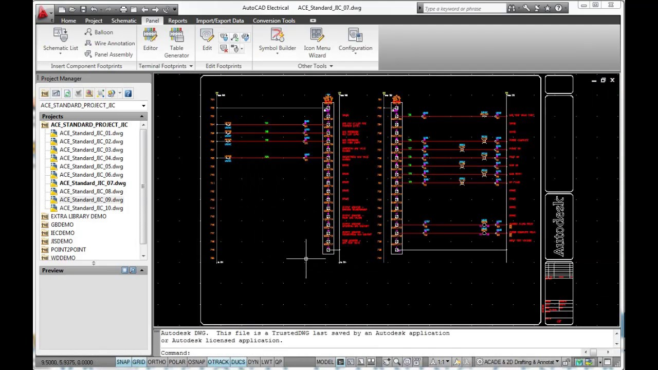 electrical panel in autocad