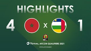 HIGHLIGHTS | Total AFCON Qualifiers 2021 | Round 3 - Group E: Morocco 4-1 Central African Republic