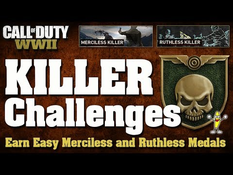 CoD WW2 Challenge Guide: How To Do The Merciless and Ruthless Killer Challenges (Killer Challenges)
