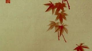 How to Draw Sumi-e Bird & Maple 1 水墨画紅葉