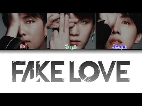 BTS (방탄소년단) - FAKE LOVE (RAP LINE ORIGINAL DEMO VERSION)[Color Coded Lyrics/Han/Rom/Eng/가사]