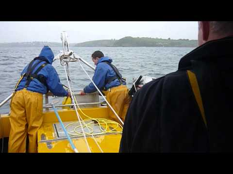 Bringing up ROV from the seabed - Falmouth Bay