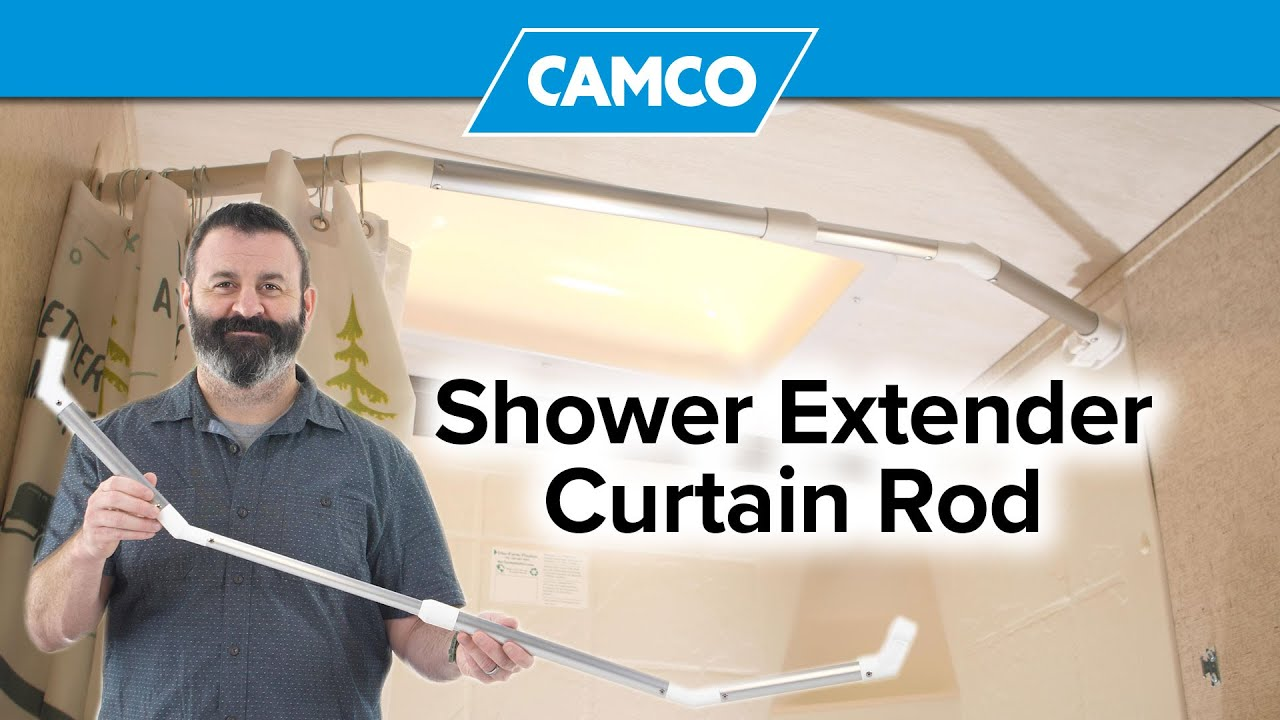pivot now more room in your rv shower with your shower extender curtain rod