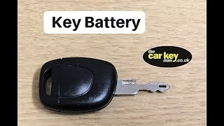 Key Battery Renault Clio HOW TO change
