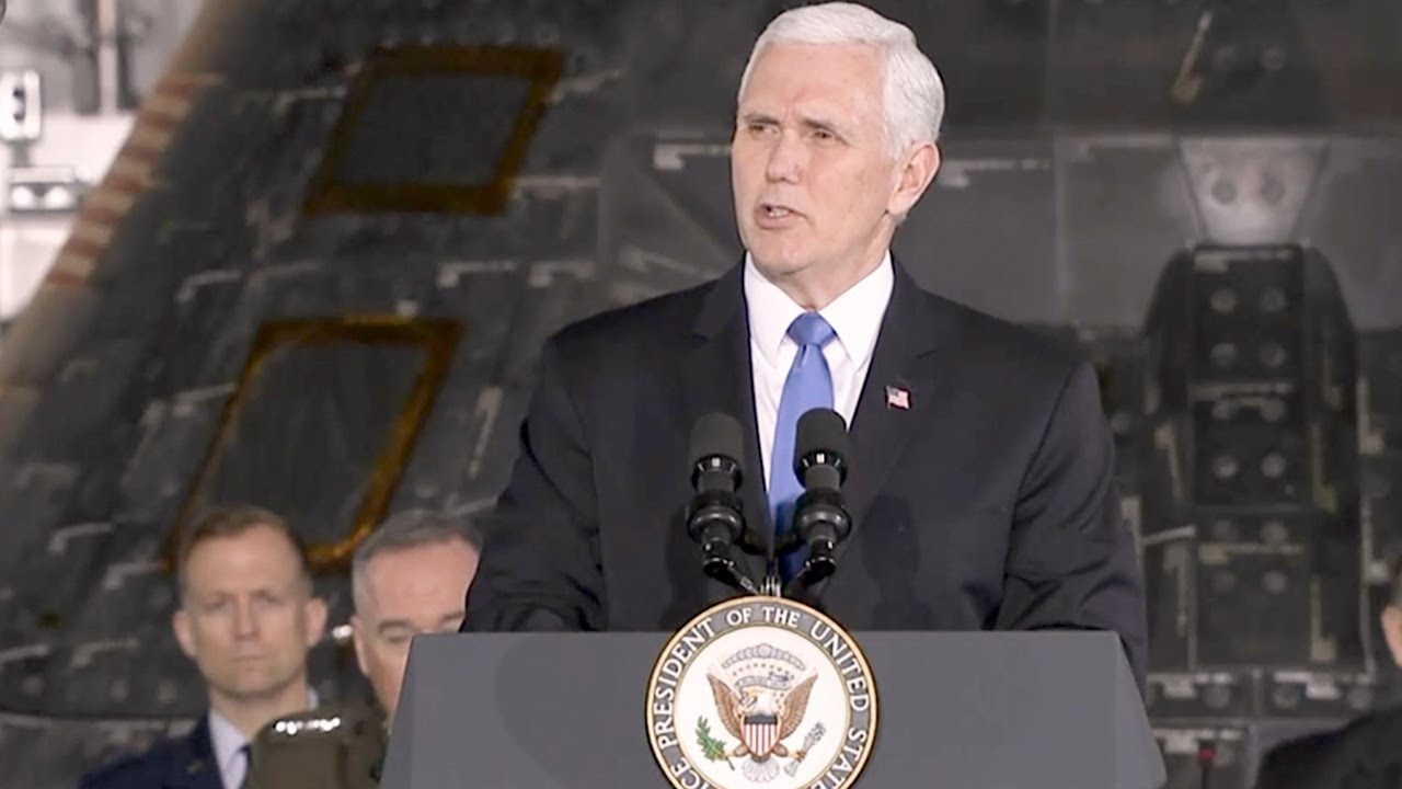 The Vice President Speaks at the National Space Council