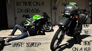 Arson Rides A ZX-6R 636 For The 1st Time + Bee Stings Him By His TIP (WIFE SWAP)