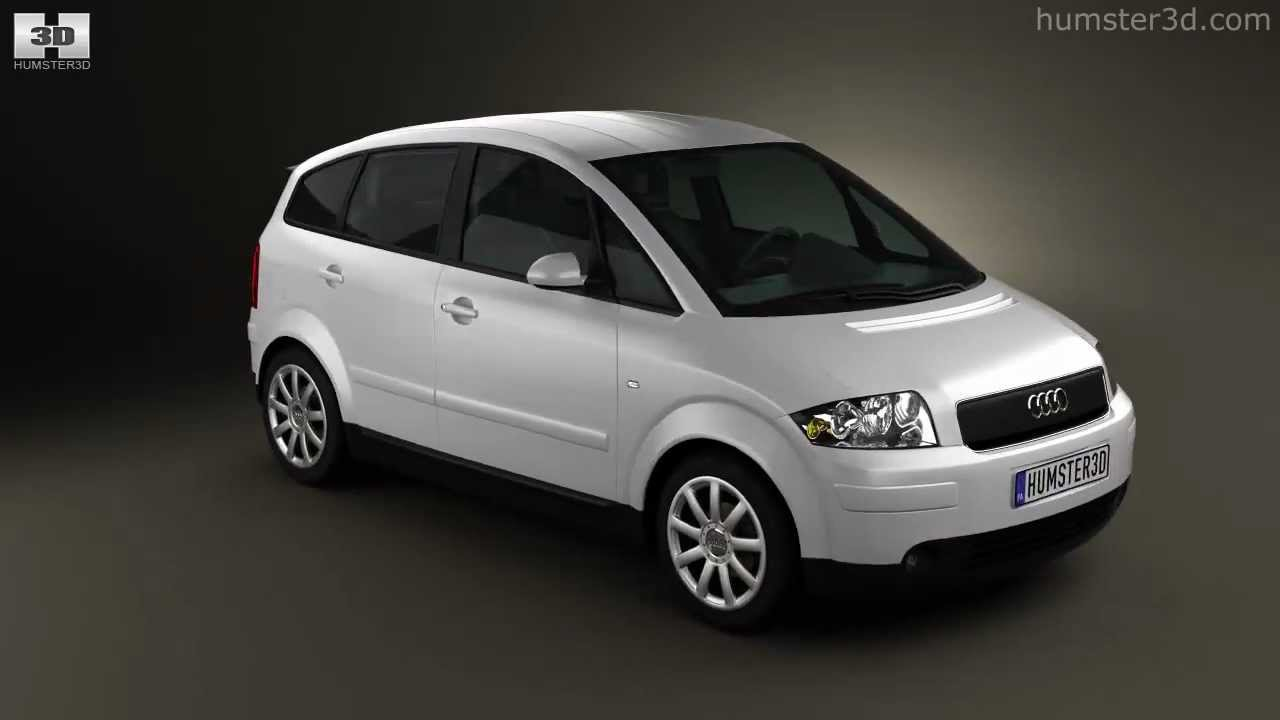 audi a2 2005 by 3d model store youtube. Black Bedroom Furniture Sets. Home Design Ideas
