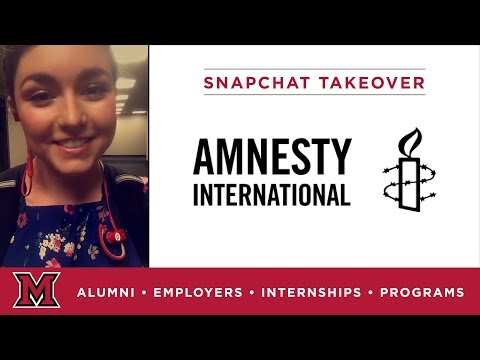 Lucy's Regional Offices Internship for Amnesty International in Chicago, IL
