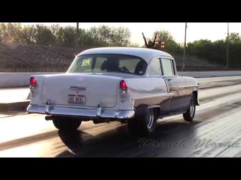 1955 Chevy Bel Air Drag Racing at National Trails