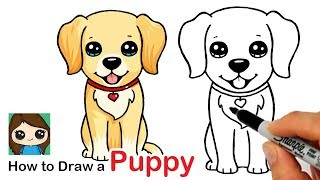 How to Draw a Labrador | Golden Retriever Puppy Easy