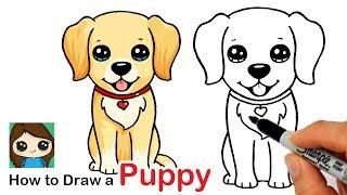 How To Draw A Labrador | Golden Retriever Puppy Easy