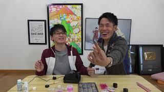 【アフレコ前】りょうと虫眼鏡がネイルしている動画