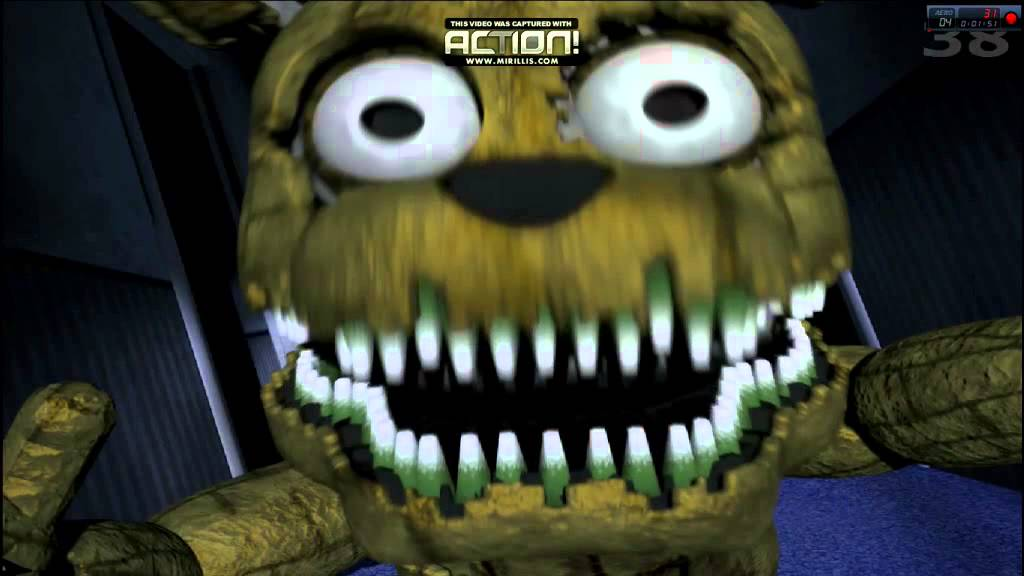 five nights at freddys 4 plushtrap jumpscare fnaf4 youtube