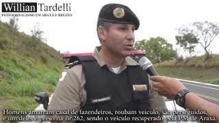 Comando 190 Araxá - Capitão Reginaldo, assalto em fazenda e prisão autor na BR.262 em Araxá.
