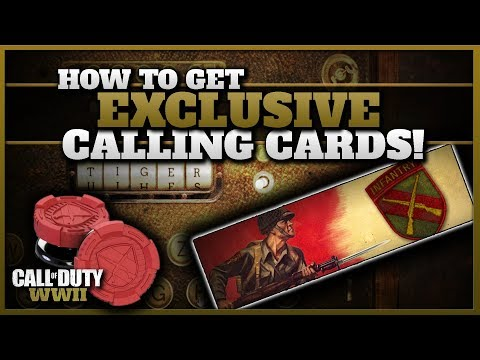 How to Get 2 Exclusive CoD WW2 Calling Cards!  (WWII Kontrol Freek Giveaway!)