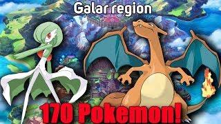 The Galar Region Pokedex (So Far 170 Pokemon)
