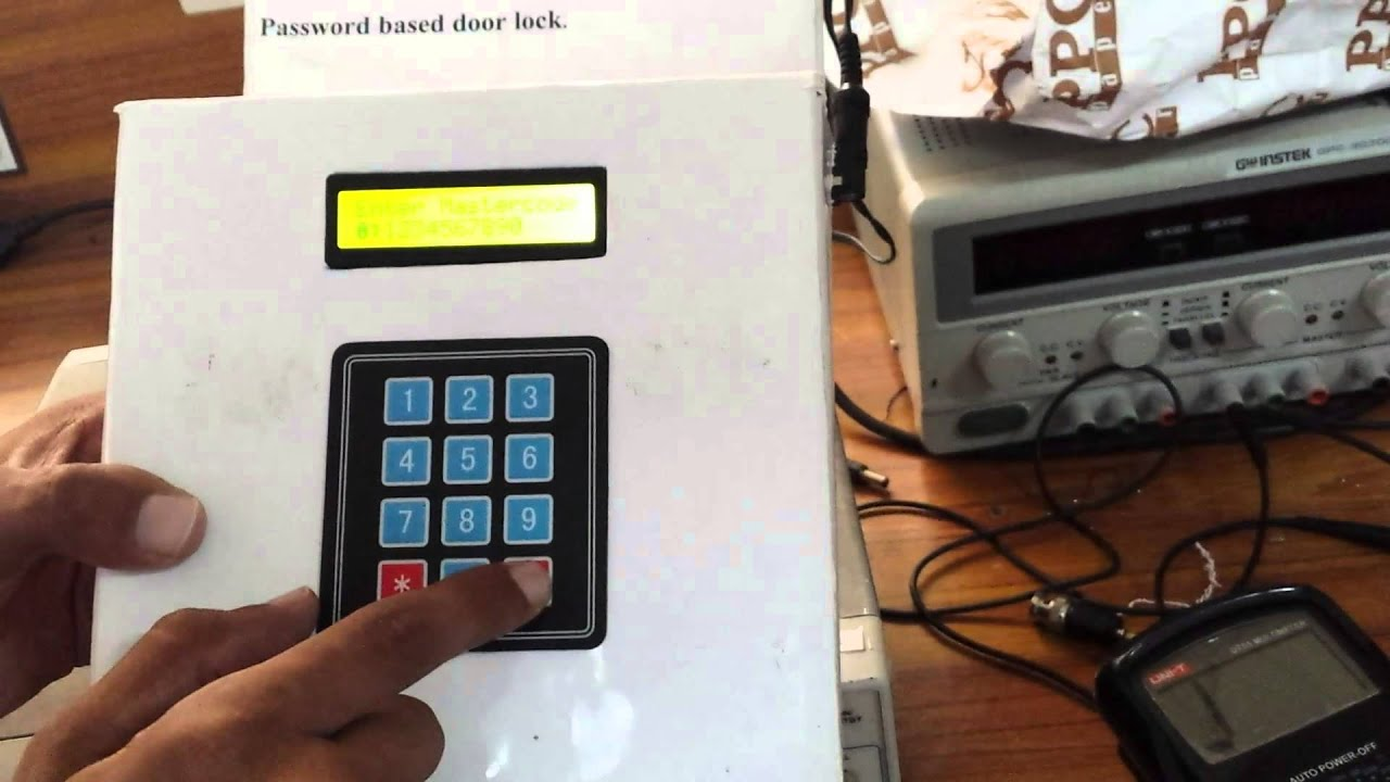 Password Based Door Locking System Using Mc 8051 Youtube