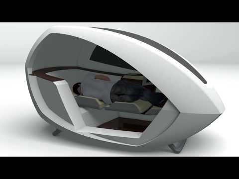【カプセル型】空港内のオアシス「AIRPOD」の発明が話題に