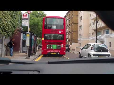 MG TF driving around London testing dash cam