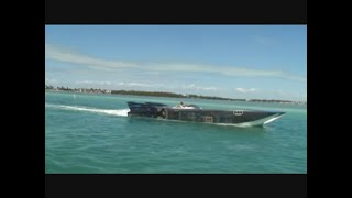 48 MTI boats cruising 156 mph in Miami Poker run 2010