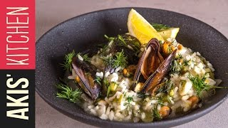Lemon rice with Mussels (Midopilafo) | Akis Kitchen