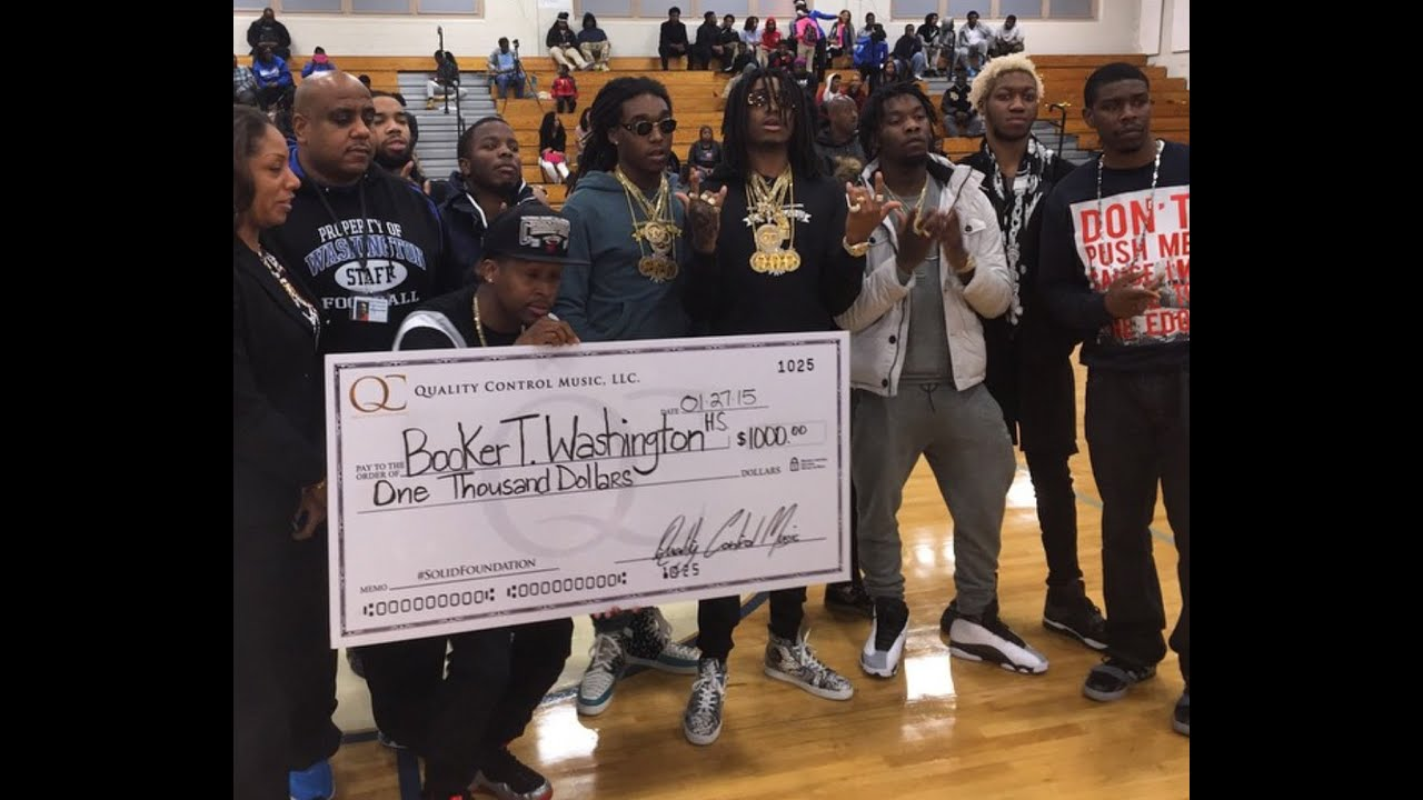 migos slammed for donating only $1,000 to an atl high school on a
