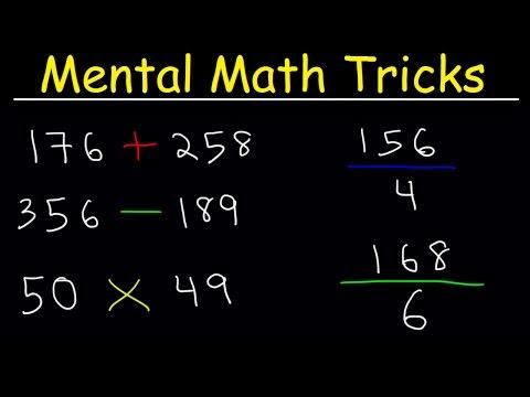 Mental Math Tricks - Addition, Subtraction, Multiplication & Division!