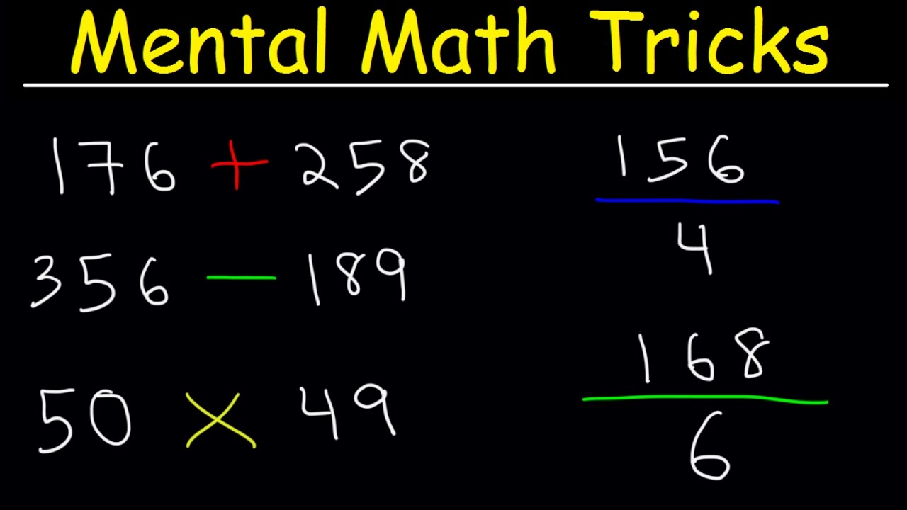 Mental Math Tricks - Addition, Subtraction, Multiplication & Division! image