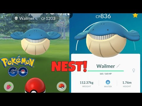 THE BEST WAILMER NEST IN POKEMON GO! EASIEST WAY TO GET ... Wailmer Pokemon
