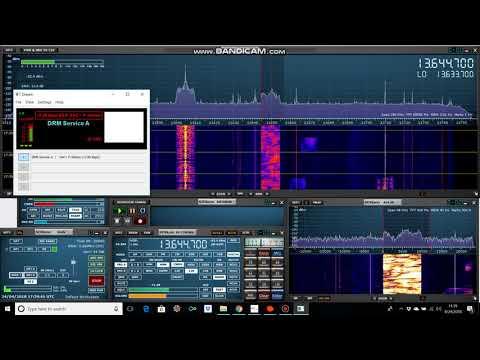 Radio Kuwait Digital, 13650 kHz DRM, 24 APR 2018, 17:39 UTC