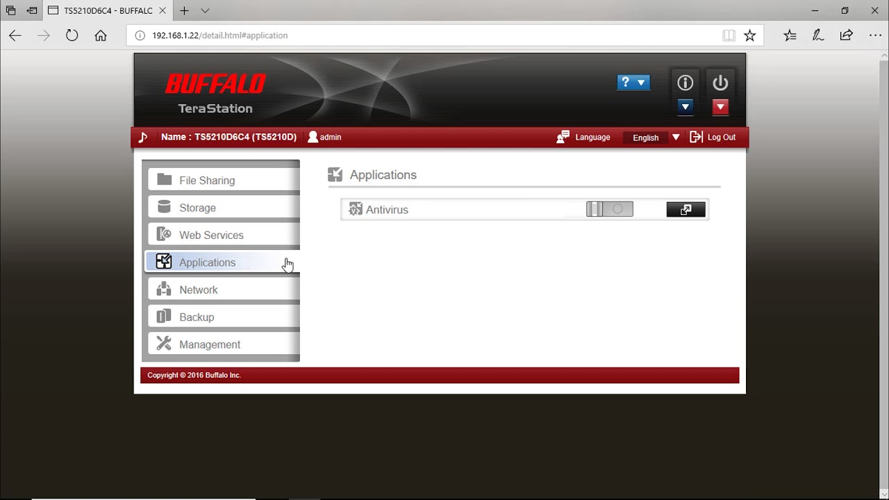 How to install Trend Micro NAS Security on a Buffalo Terastation
