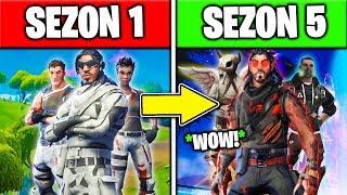 JAKIE SKINY DOSTANIEMY na SEZON 5 w FORTNITE! *SEZON 1 VS SEZON 5!* CIEKAWOSTKI i TEORIA