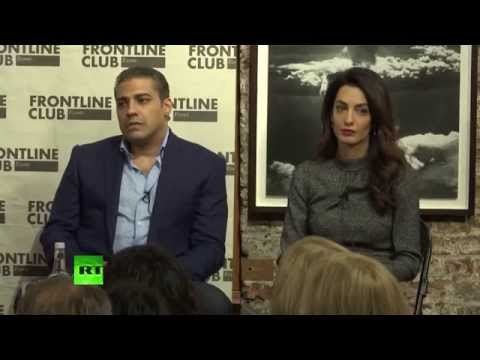 Mohamed Fahmy free in London with lawyer Amal Clooney
