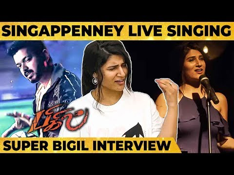 Download Lagu  Bigil - Singappenney First Ever Live Performance by Shashaa Tirupati | Vijay | A.R Rahman | Atlee Mp3 Free