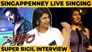 Cover images Bigil - Singappenney First Ever Live Performance by Shashaa Tirupati | Vijay | A.R Rahman | Atlee