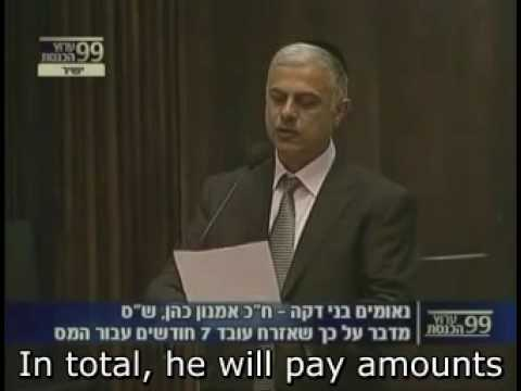 Tax Freedom Day in Israel: MK Amon Cohen addresses the Knesset - WITH CAPTIONS