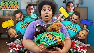 Clean Up Song! (Goo Goo Mom Teaches Sons to Put Away Toys)